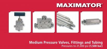 Maximator-Medium Pressure Valves, Fittings and Tubing-1